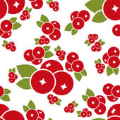 Cranberry seamless pattern — Stock Vector