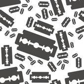Razor blade seamless pattern — Stock Vector