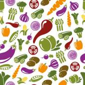 Vegetable seamless pattern — Stock Vector