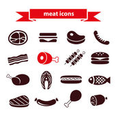 Meat icons — Stock Vector