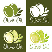 Olive oil icons — Stock Vector