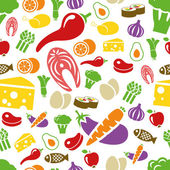 Healthy food seamless pattern — Stock Vector