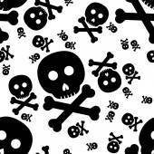 Skull and crossbones seamless pattern — Stock Vector
