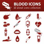 Blood icons — Stock Vector