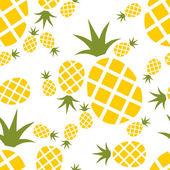Pineapple seamless pattern — Stock Vector