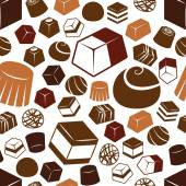 Chocolate seamless pattern — Stock Vector