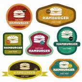 Retro hamburgers — Stock Vector