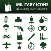 Military icons — Stock Vector
