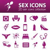 Sex icons — Stock Vector