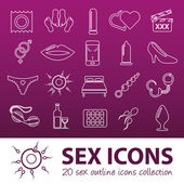 Sex outline icons — Stock Vector