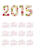 Vertical calendar 2015 — Stock Vector