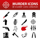 Murder icons — Stock Vector