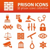 Prison icons — Stockvector