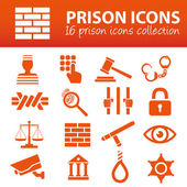 Prison icons — Stockvektor
