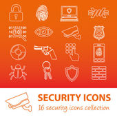 Security outline icons — Stock Vector