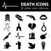 Death icons — Stock Vector