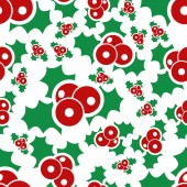 Mistletoe seamless pattern — Stock Vector