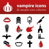 Vampire icons — Stock Vector