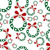 Christmas garland seamless pattern — Stock Vector