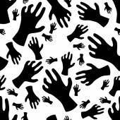 Zombie hand seamless pattern — Stock Vector