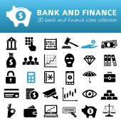 Bank and finance icons — Stock Vector