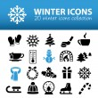 Winter icons — Stock Vector #59294587