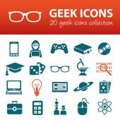 Geek icons — Stock Vector