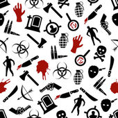 Zombie seamless pattern — Stock Vector