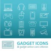 Gadget outline icons — Stock Vector