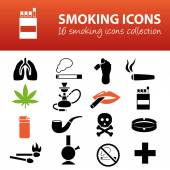 Smoking icons — Stock Vector