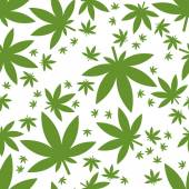 Weed seamless pattern — Stock Vector