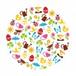 Spring icons in circle — Stock Vector #60273569