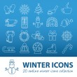 Winter outline icons — Stock Vector #60273769