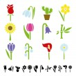 Flower icons — Stock Vector #61518685