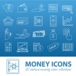 Money outline icons — Stock Vector #61518699