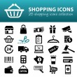 Shopping icons — Stock Vector #61518721