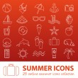 Summer outline icons — Stock Vector #61518741