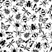 Insectos de patrones sin fisuras — Vector de stock