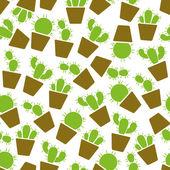 Cactus seamless pattern — Stock Vector