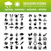 Season icons — Cтоковый вектор