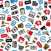 Shopping seamless pattern — Stock Vector