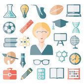 Teacher flat icons — Stock Vector