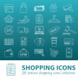 Shopping outline icons — Stock Vector #62562425