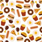 Food seamless pattern — Stock Vector