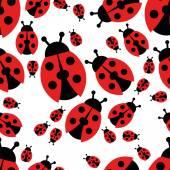 Ladybird seamless pattern — Stock Vector