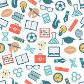 Teacher seamless pattern — Stock Vector