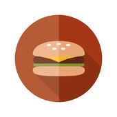 Hamburger flat icon — Stock Vector