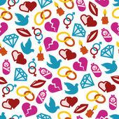 Love seamless pattern — Stock Vector