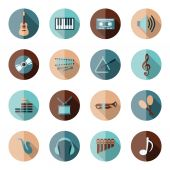 Music flat icons — Stock Vector