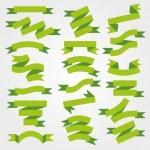 Green ribbons — Stock Vector #63816557